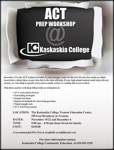 Wesclin CUSD 3 - ACT Prep Workshop @ KC Trenton Center